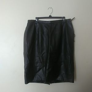 Liz Claiborne Elisabeth Leather Skirt Size 14